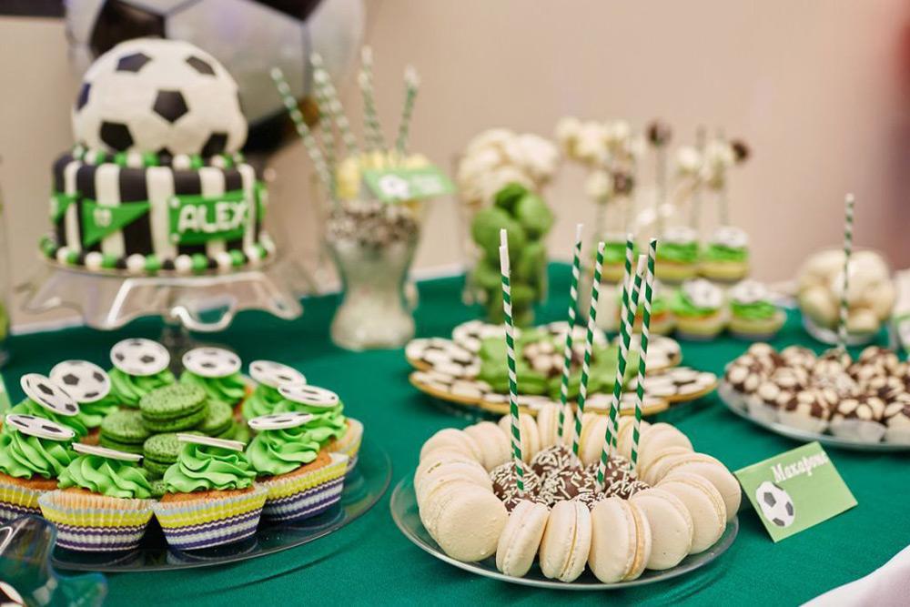 Угощение на день рождения в стиле Футбол
